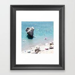 Mediterranean Rock Framed Art Print