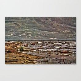 Baltic Sea at Kaltene West Coast Latvia Canvas Print