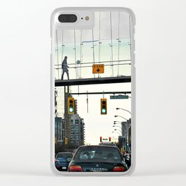Over to the Other Side Clear iPhone Case