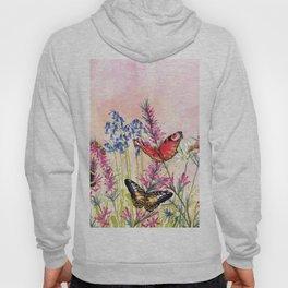 Wild meadow butterflies Hoody