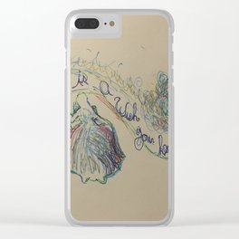 A dream is a Wish your heart Makes 2 Clear iPhone Case