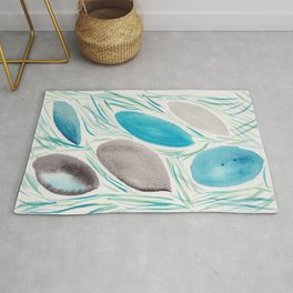 9  | Watercolor Patterns Abstract 181214 Rug