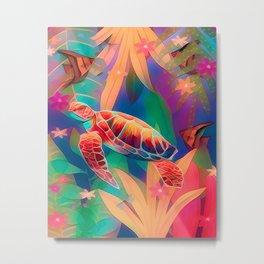 Sea Turtle Fantasy Scene #2 Metal Print