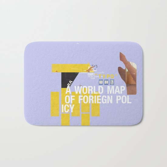 A World Map of Foreign Policy (book jacket cover) Bath Mat