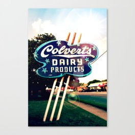 Colvert's Dairy sign Canvas Print