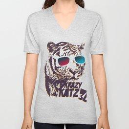 Crazy Tiger Unisex V-Neck