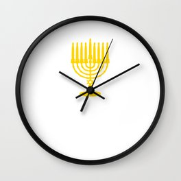 We Do it For 8 Days Hanukkah Funny Graphic T-shirt Wall Clock
