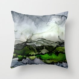 Stormy landscape Throw Pillow