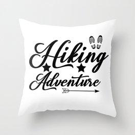 Hiking Adventure Throw Pillow