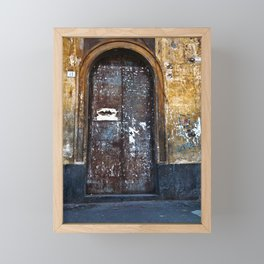 Old Sicilian door of Catania Framed Mini Art Print