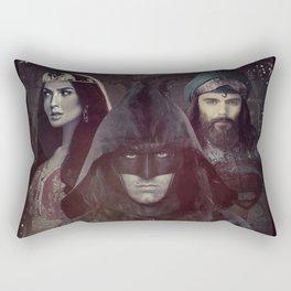 "bat man vs superman ""Samarkand""  Rectangular Pillow"