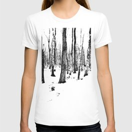 Trees in the Snow (B&W) T-shirt