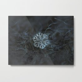 Real snowflake macro photo: Alcor Metal Print