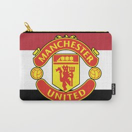 Manchester United Football Club Logo (Stripes) Carry-All Pouch