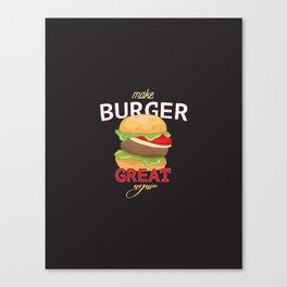 Make Burger great again Canvas Print