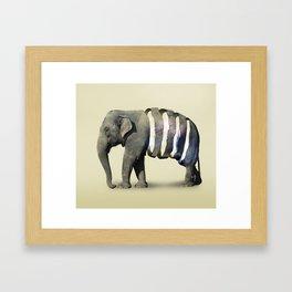 Inner Space Elephant Framed Art Print