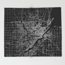 Toledo map ohio Throw Blanket