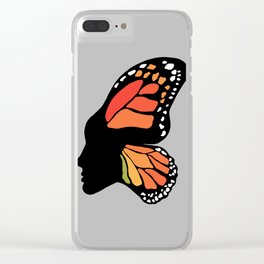Butterfly Girl Clear iPhone Case