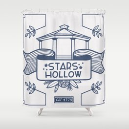 Stars Hollow Tourism Committee Shower Curtain