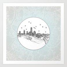 Austin, Texas City Skyline Art Print