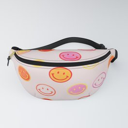Smiling Faces Pattern Fanny Pack