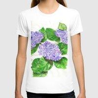 hydrangea T-shirts featuring Hydrangea by Kate Havekost Fine Art