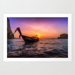 Longtail Sunset Art Print