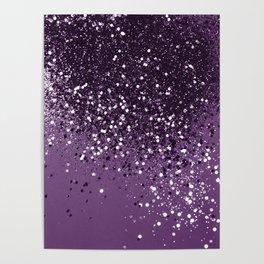 PURPLE Glitter Dream #1 #shiny #decor #art #society6 Poster