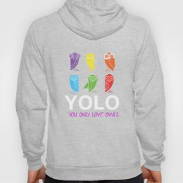 Yolo You Obviously Love Owls Nocturnal Birds Night Hunter Animals Wildlife Wilderness Gift Hoody