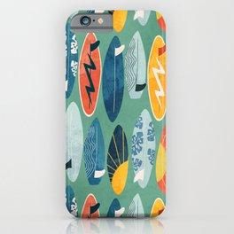 Surfboard green  iPhone Case
