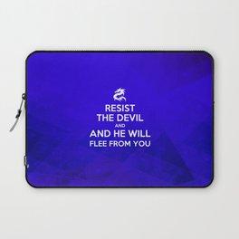 Resist the Devil - Bible Lock Screens Laptop Sleeve