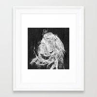 ellie goulding Framed Art Prints featuring Ellie by Misha Libertee