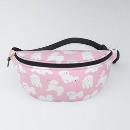 Bichon Frise Pattern (Pink Background) Fanny Pack