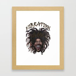 Vibration Positive Framed Art Print