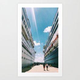 Carnival Cruise Art Print