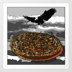 Eagelpizza Art Print