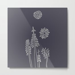 Forest Bathing  - Charcoal Metal Print