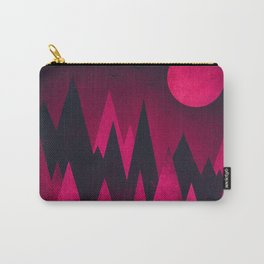 Dark Triangles (Peak Woods) Abstract Grunge Mountains Design (red/black) Carry-All Pouch