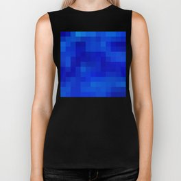 Re-Created Colored Squares No. 9 by Robert S. Lee Biker Tank