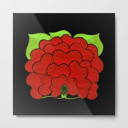 Welcome Flower (on black) Metal Print