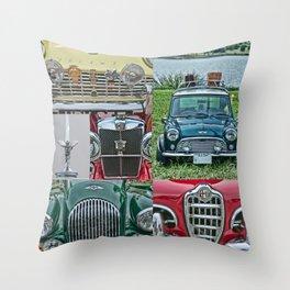 European Autos Throw Pillow