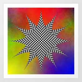 Modern Checkered Plasma Art Print