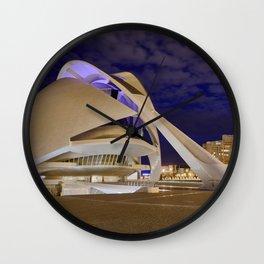 Opera house. Valencia Wall Clock
