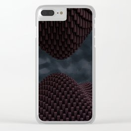 Copper Stalactites Clear iPhone Case
