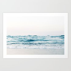 Sea water blue 8 Art Print