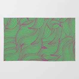 Abstract coorful pattern with leaves Rug