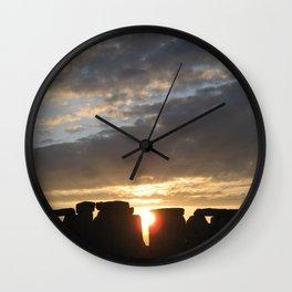 Sunset at Stonehenge Wall Clock