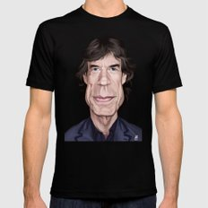 Celebrity Sunday ~ M ick Jagger Mens Fitted Tee X-LARGE Black