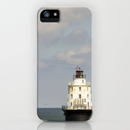 Harbor of Refuge Lighthouse iPhone Case
