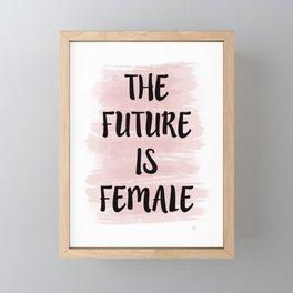 Future is Female Framed Mini Art Print